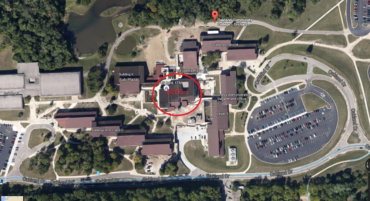 Occ Southfield Campus Map.Occ Orchard Ridge Campus Info